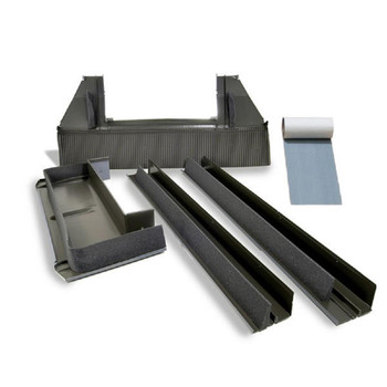 VELUX S01 High-Profile Tile Roof Flashing with Adhesive Underlayment for Deck Mount Skylight