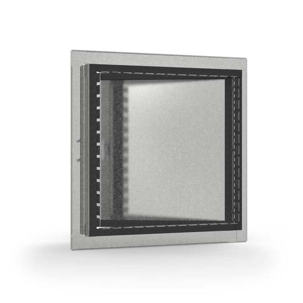 Acudor 14x14 HD-5070-F Galvanized steel Insulated Duct Door for Ductboard/Fiberglass Duct - HINGED