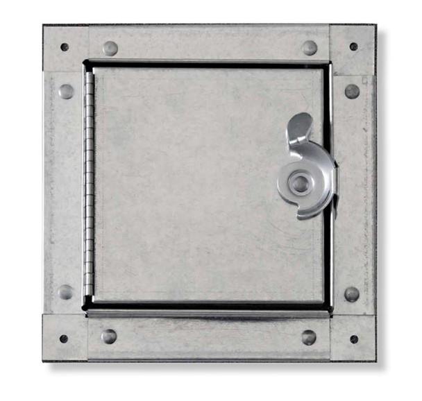 Acudor 10X10 HDSS-6020 Galvanized Steel Self-Stick Duct Door For Sheet Metal Duct HINGED