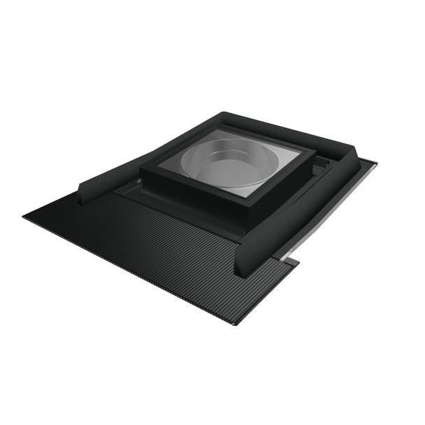 Fakro SFH-L 14 in. Flat Glass Tubular Skylight with Flexible Light Tunnel and Integrated High-Profile Flashing