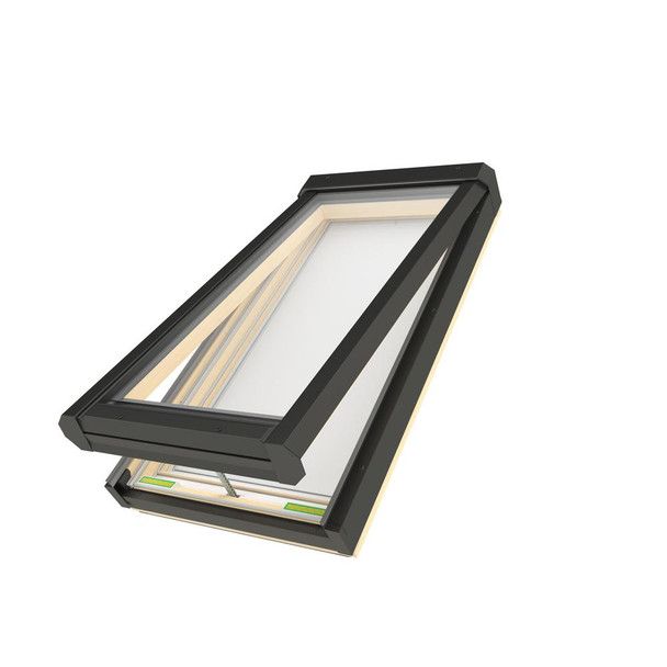 Fakro 22-1/2 in. x 26-1/2 in. Electric Venting Deck-Mounted Skylight with Laminated Low-E366 Glass