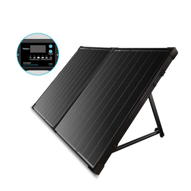Renogy 100 Watt 12 Volt Monocrystalline Foldable Solar Suitcase with 10A Voyager Charge Controller