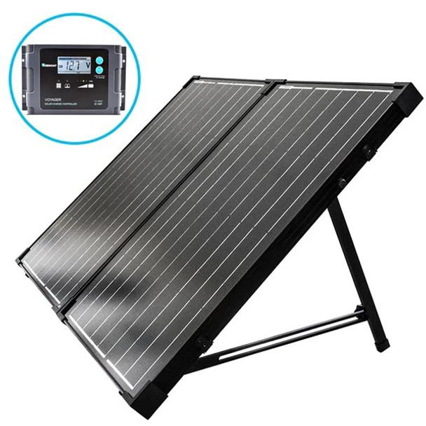 Renogy 100 Watt 12 Volt Monocrystalline Foldable Solar Suitcase with Voyager