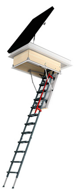 Fakro DRL 27.5 in. x 59.5 in. Flat Roof Access Hatch with Metal Attic Ladder