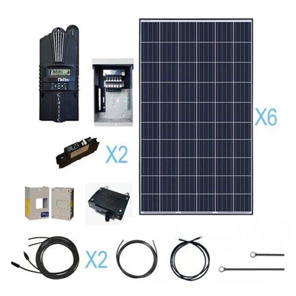 Renogy 1800 Watt 24 Volt Polycrystalline Solar Cabin Kit