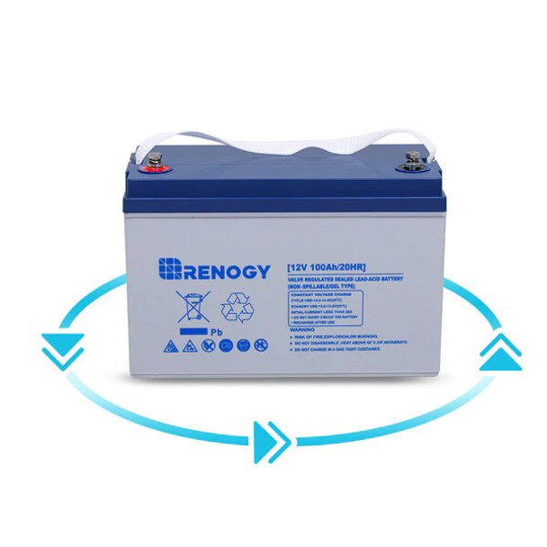 Renogy Deep Cycle Hybrid Gel Battery 12 Volt 100AH