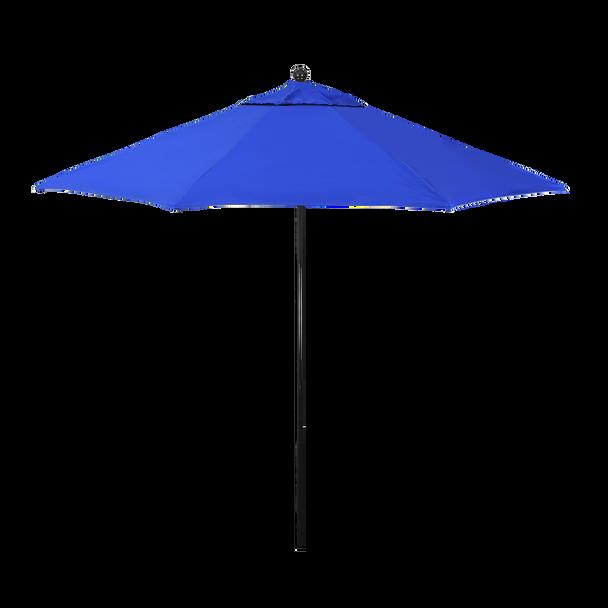 California Umbrella 9 ft. Oceanside Series Patio Umbrella With Black Fiberglass Pole