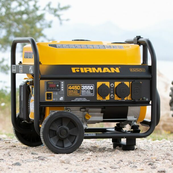 Firman P03501 4550 Watt Performance Generator with Wheel Kit and Cover
