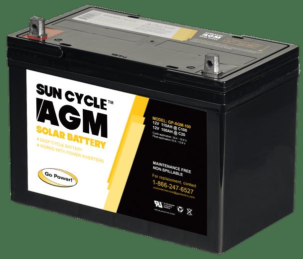 Go Power! GP-AGM-100 12 Volt Sun Cycle AGM Solar Battery