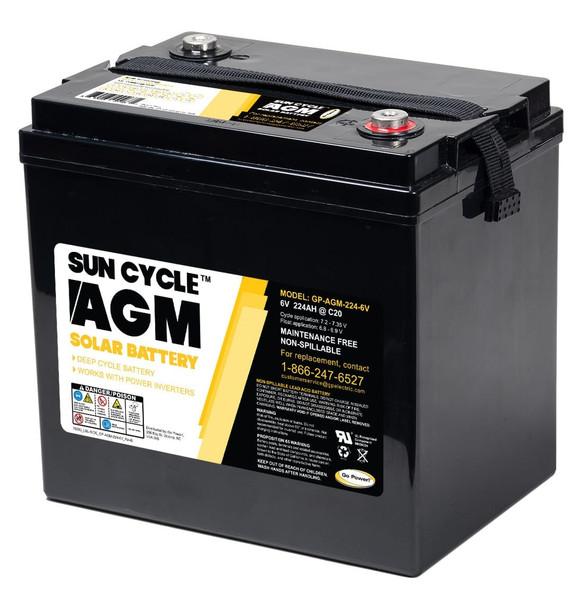 Go Power! GP-AGM-224-6V 6 Volt Sun Cycle AGM Solar Battery