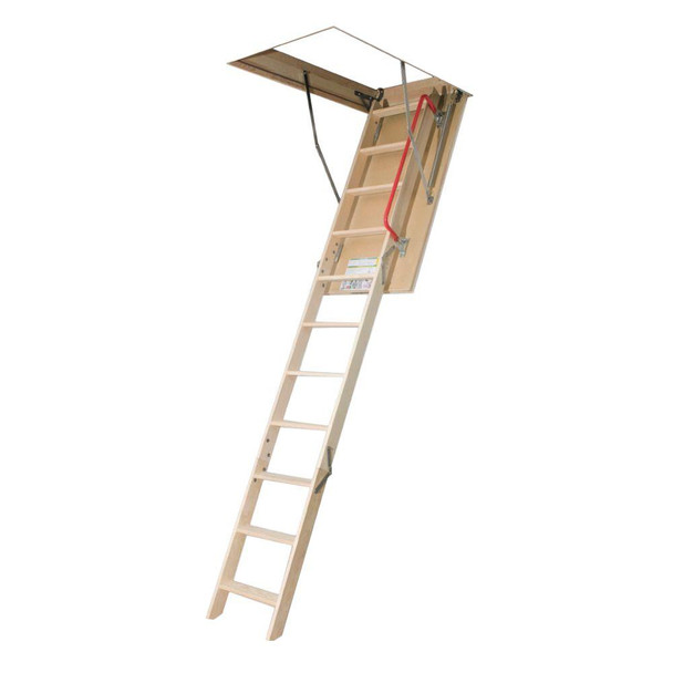 Fakro LWP 2554 25 in. x 54 in. 10 ft. 1 in. Wood Attic Ladder