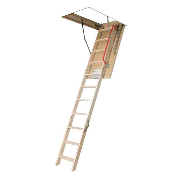 Fakro LWP 2554 25 in. x 54 in. 10 ft. 1 in. Wood Attic Ladder