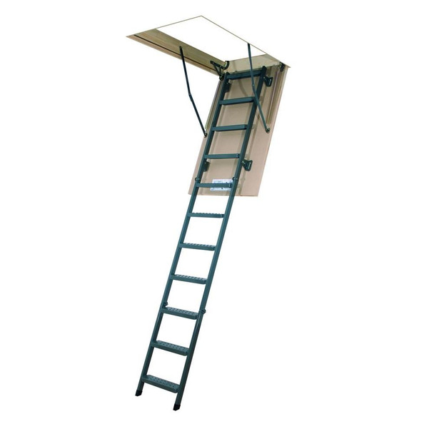 Fakro LMS 2554 25 in. x 54 in. Insulated Metal Folding Attic Ladder