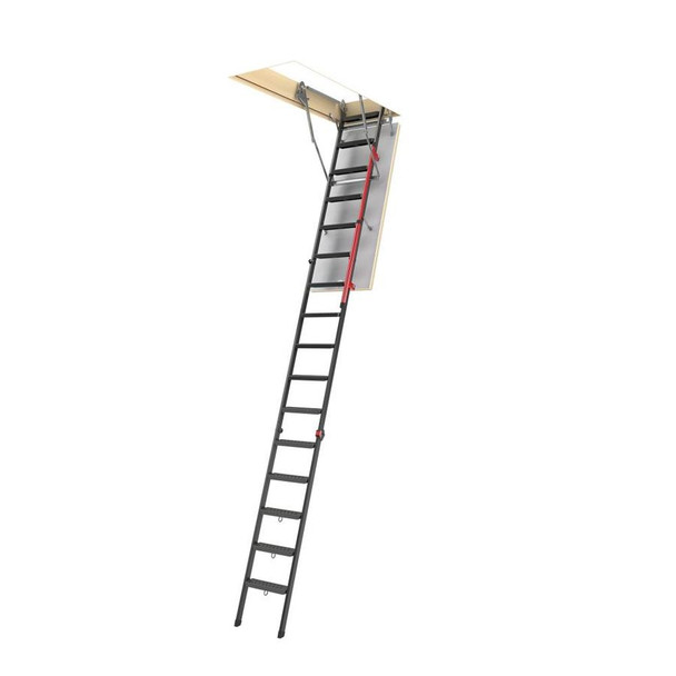Fakro LMP 3056 30 in. x 56.5 in. Insulated Metal Folding Attic Ladder