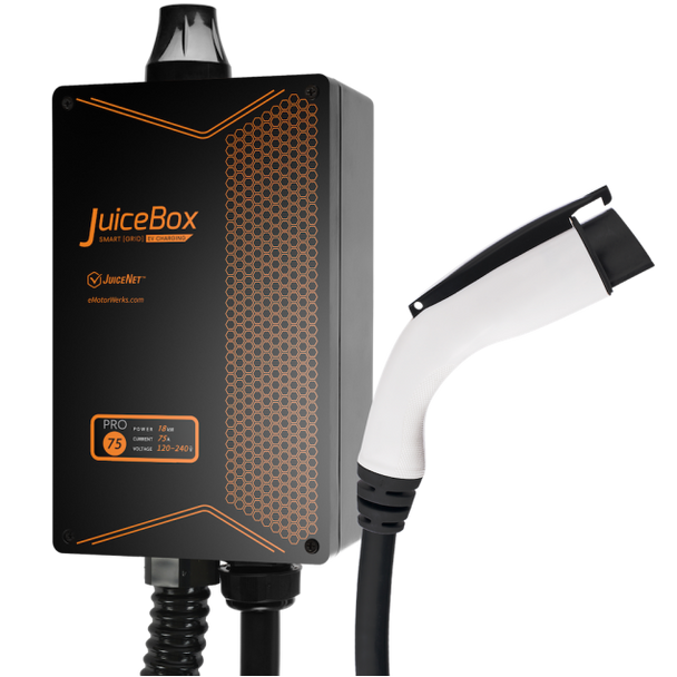 JuiceBox® Pro 75C 75-Amp Commerical EV Charging Station (Level 2 EVSE) with 24-foot cable