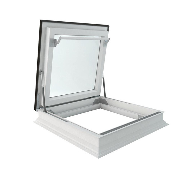 Fakro DRF 36 in. x 48 in. Venting Flat Roof Deck-Mount Roof Access Skylight Triple Glazed