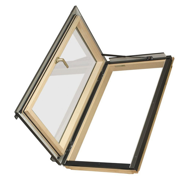 Fakro FWU-L Egress Window 22.25 in x 37.33 in. Venting Roof Access Skylight with Tempered Glass, LowE