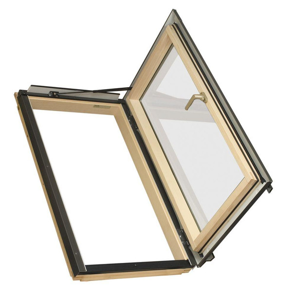 Fakro FWU-R Egress Window 22 1/4 in. x 37 1/4 in. Venting Roof Access Skylight with Tempered Glass, LowE