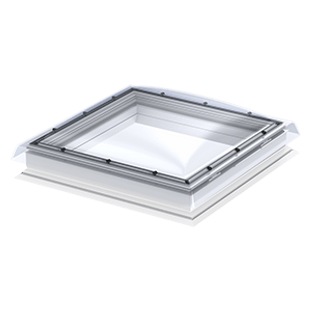 VELUX 47 1/4 x 47 1/4 Flat Roof Skylight Base and Polycarbonate Top Cover CFP 120120 0010