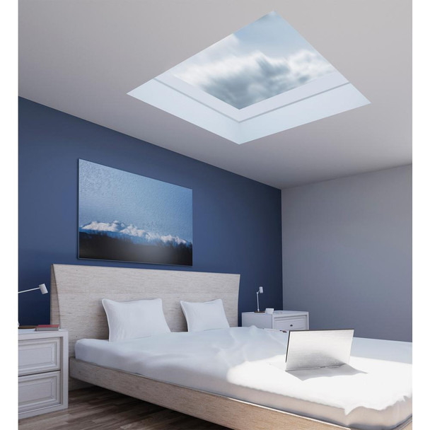 Fakro FXC 22-1/2 in. x 34-1/2 in. Fixed Curb-Mounted Skylight with Laminated LowE366 Glass