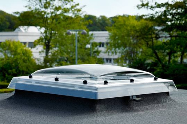 VELUX 39 3⁄8 x 39 3⁄8 Flat Roof Exit Skylight with Polycarbonate Dome CXP 100100