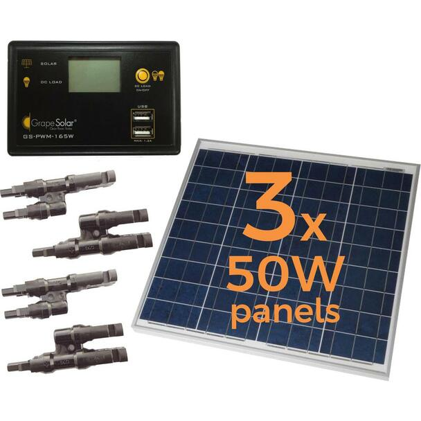Grape Solar GS-150-KIT 150W Off-Grid Kit