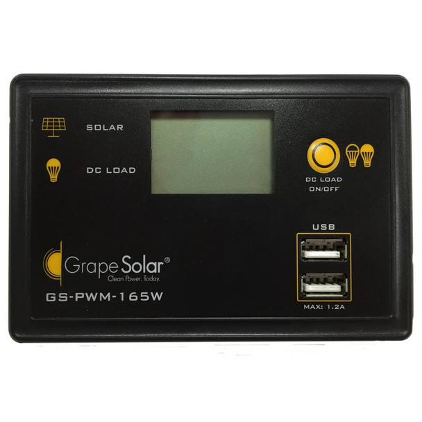 Grape Solar GS-PWM-165W 165-Watt Flush Mount PWM Solar Charge Controller