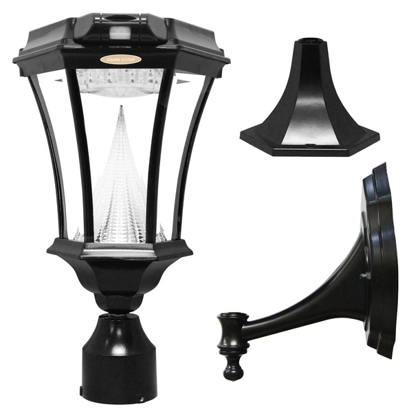 Gama Sonic Victorian PIR Series – Solar Lamp With Motion Sensor GS-94PIR-FPW