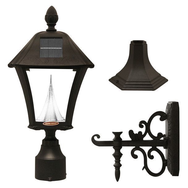 Gama Sonic Baytown Solar Lamp Series – 3 Mounting Options GS-106-FPW