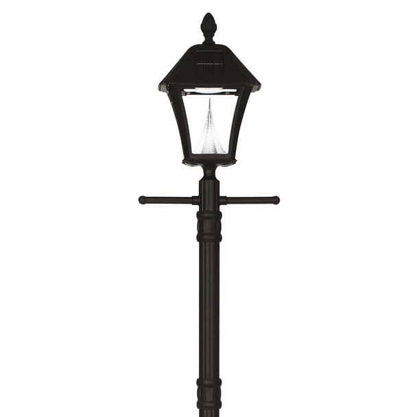 Gama Sonic Baytown Solar Lamp with EZ Anchor and Lamp Post GS-106S-G