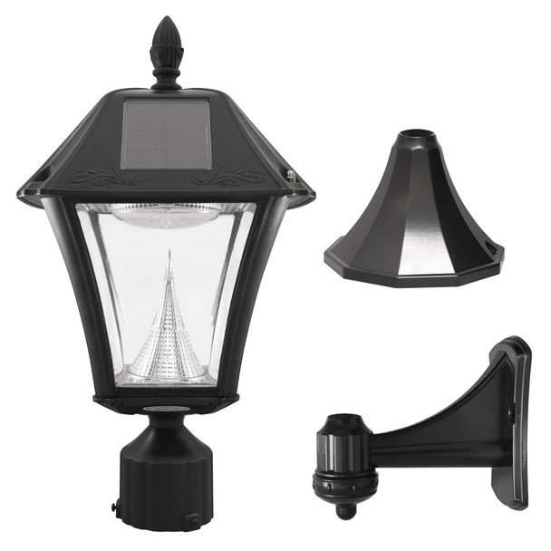 Gama Sonic Baytown II Solar Lamp 3 Mounting Options GS-105-FPW