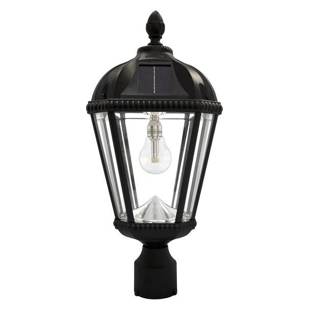 Gama Sonic Royal Bulb 3″ Fitter Solar Lamp with GS Solar LED Light Bulb GS-98B-F