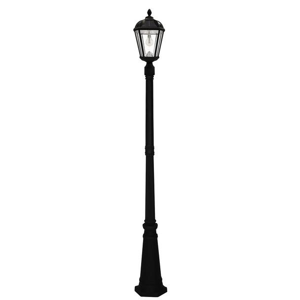 Gama Sonic Royal Bulb Single Solar Lamp and Lamp Post with GS Solar LED Light Bulb GS-98B-S