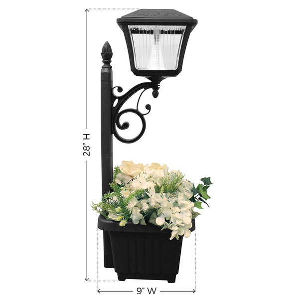 Gama Sonic Plantern Solar Path Light with Planter GS-111PL