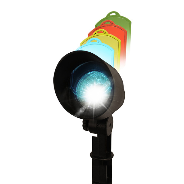 Gama Sonic Solar Spotlight with Color Changing Lenses GS-150