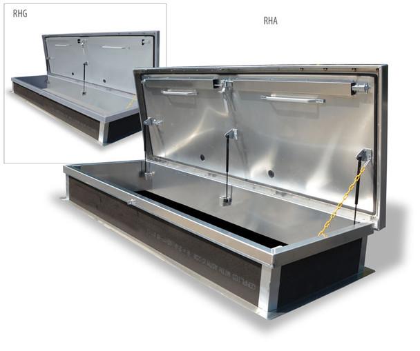 Acudor 30 x 96 Service Stair Roof Hatch G38104 Galvanized Steel