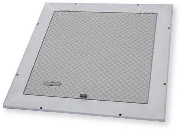 Acudor 60 x 60 FA-300-R Aluminum Floor Door Double Leaf