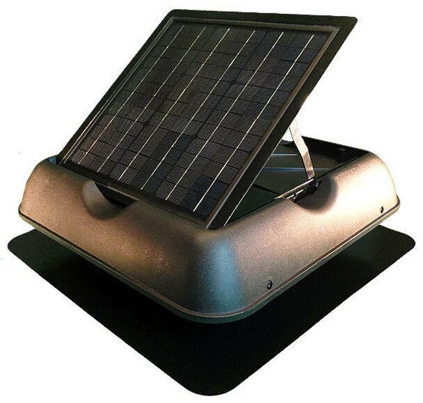 Solar Royal 30Watt Solar Attic Ventilation Fan with Thermostat (SR1800 Series) SRSF-30W07 Black
