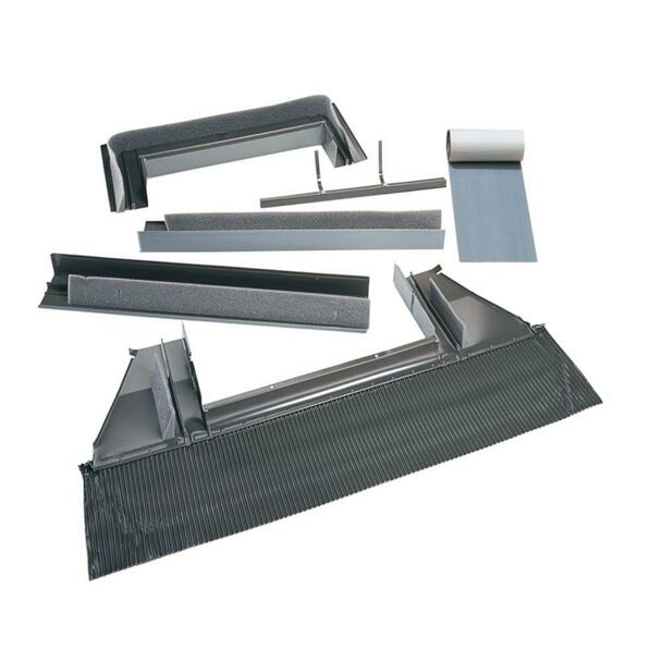 VELUX 1430/1446 High-Profile Tile Roof Flashing with Adhesive Underlayment for Curb Mount Skylight