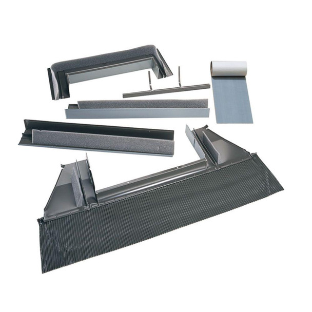 VELUX 3434/3446 High-Profile Tile Roof Flashing with Adhesive Underlayment for Curb-Mount Skylight