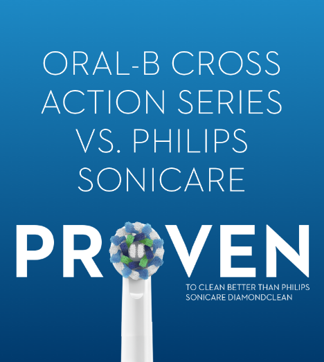 oral-b crossaction series vs phillips sonicare