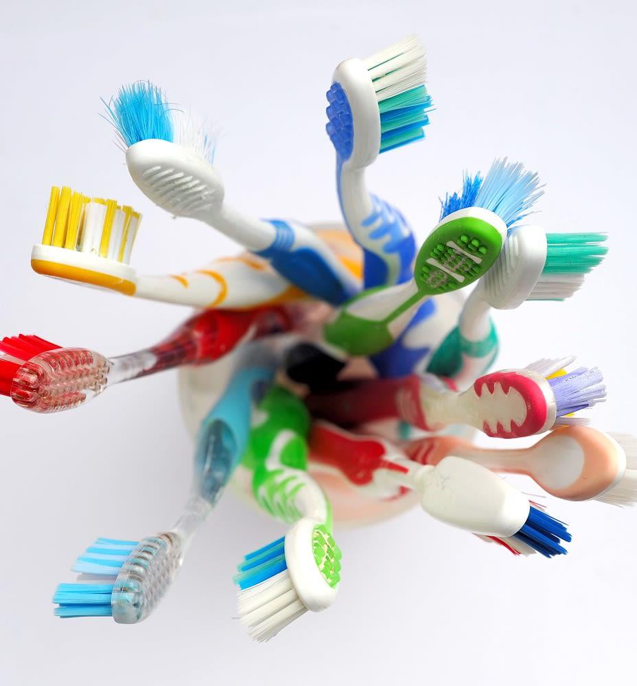 Brush. Rinse. Repeat. beats the recycling bin