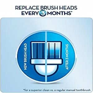 Replace brush heads every three months