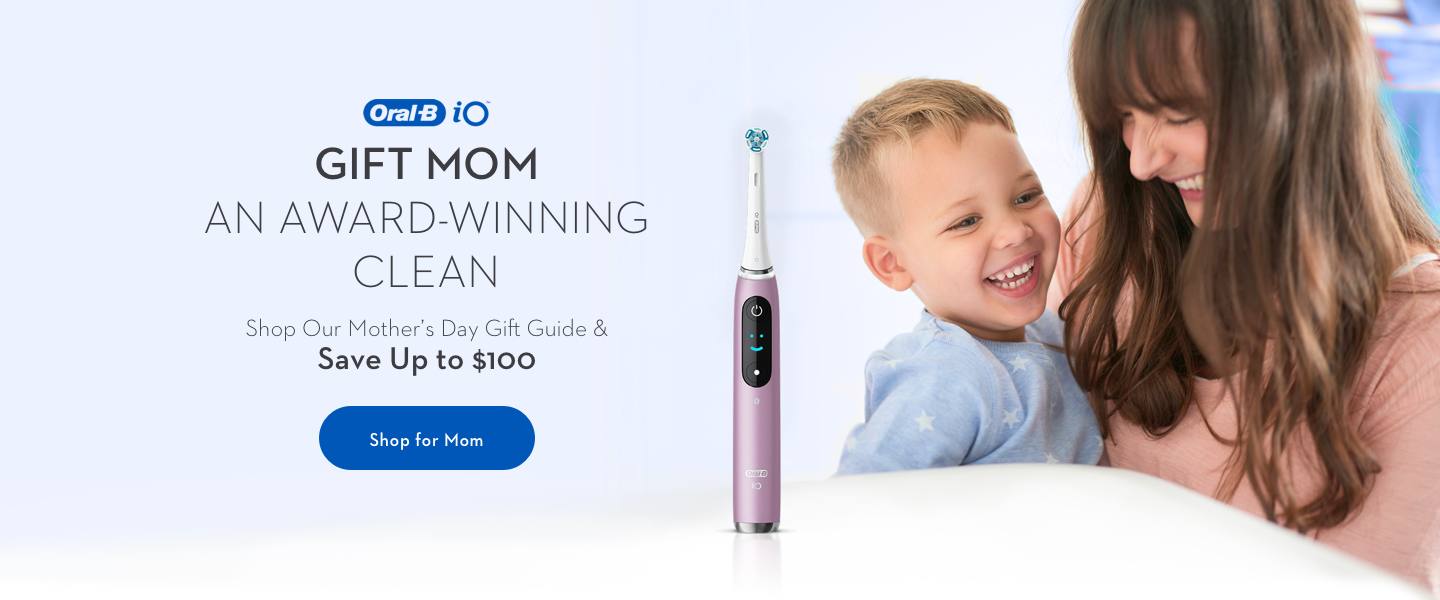 homepage banner OralB io: professional clean feel everyday
