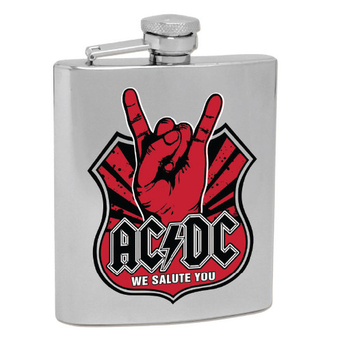 AC/DC We Salute You Hip Flask