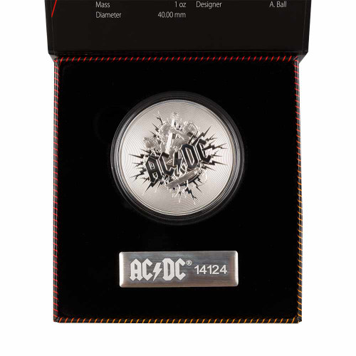 AC/DC Silver Frosted Collector Coin