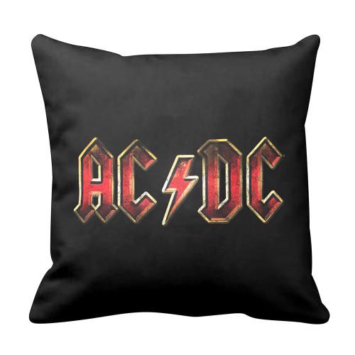 AC/DC Logo Black Cushion