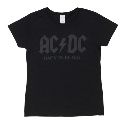 AC/DC Back in Black Ladies Tee
