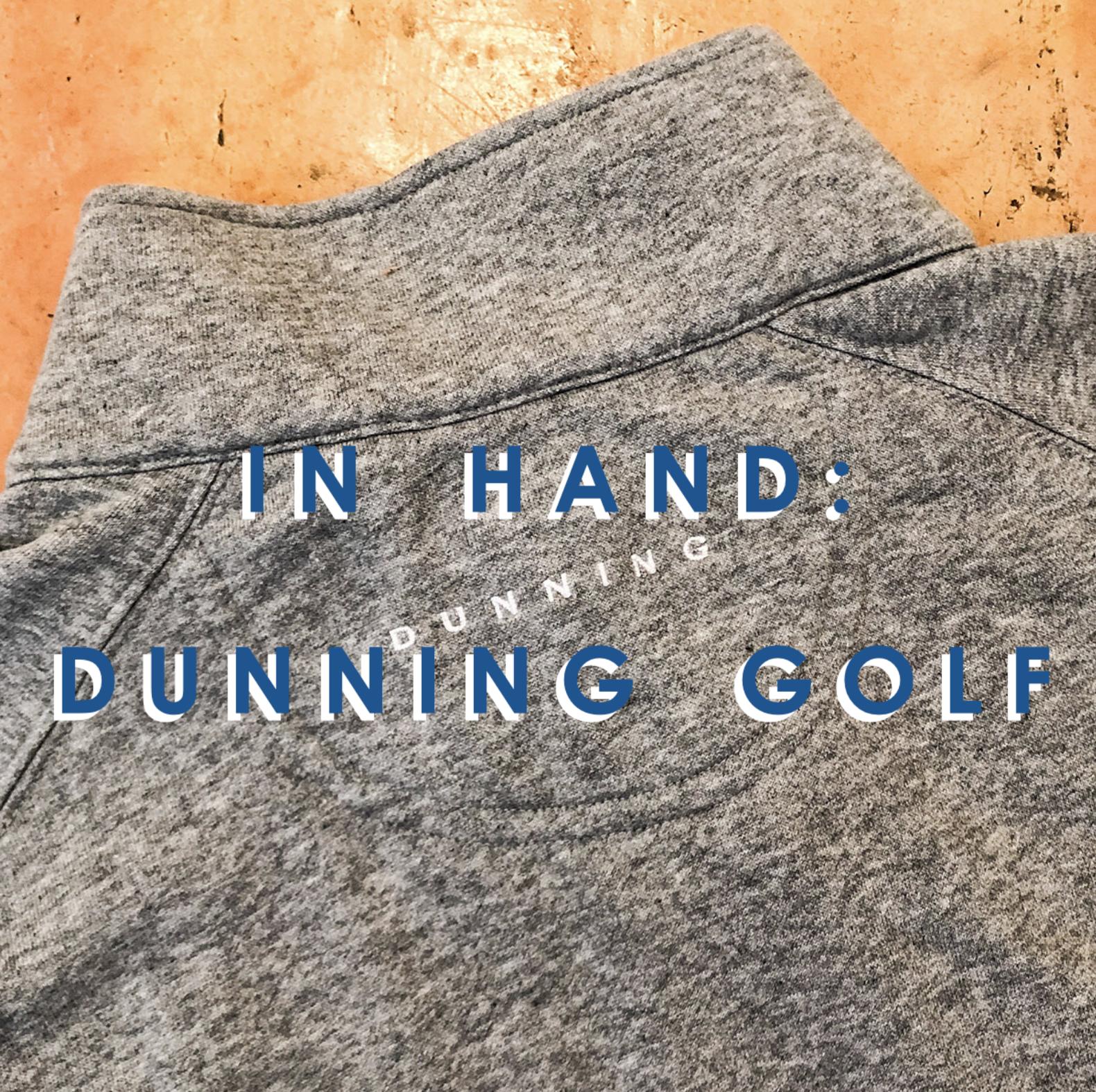 Back of Dunning golf shirt