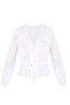 Cream Silk Blouse 60% Off
